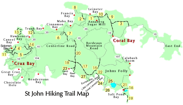 St John trail map